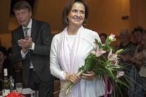 Herečka, jež má ve své sbírce dvě ceny Týty, sklidila od návštěvníků Kavárny v Chotěboři obrovský potlesk.