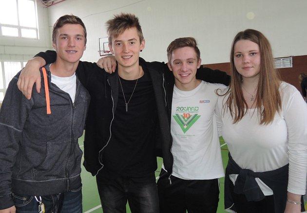 Vítězné družstvo se složení Martin Šimek, Josef Strašík, Petr Kruntorád a Tereza Obrdlíková.