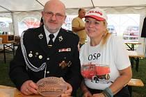 Pawel Buksalewitz se svou ženou Alou v Přibyslavi na Pyro Caru.