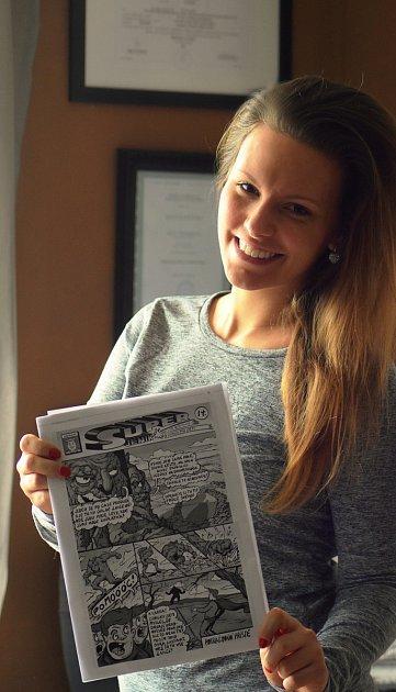 Snápadem vytvořit městský komiks přišla Lucie Chaloupková.