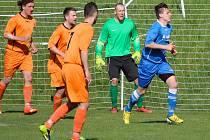 Fotbalistům Mírovky (v oranžovém) se povedl vstup do nové sezony, když doma porazili Humpolec B 5:2 a stejným výsledkem vyhráli i v Horní Cerekvi.