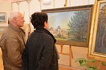 Momentky z vernisáže amatérských výtvarníků ve Světlé nad Sázavou.