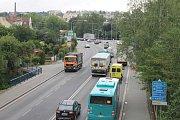 Dennodenní situace na křižovatce Masarykova - Humpolecká.