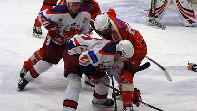 Regionální derby. To v přípravném utkání nevyšlo starším dorostencům HC Rebel, kteří prohráli v Jihlavě.