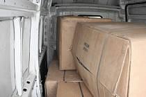 Policisté loni v srpnu v dodávce našli více než 700 kilogramů sušiny řezaného tabáku.