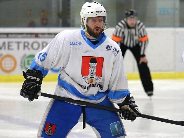 Světelský Petr Včela (na snímku) si nechal vítěznou trefu proti České Třebové až na poslední vteřiny zápasu.