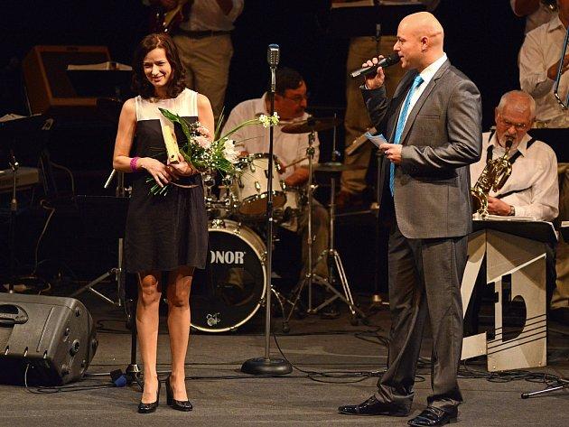 Nejvyšší ocenění Kraje Vysočina převzala také herečka Marika Šoposká, rodačka z Havlíčkova Brodu.