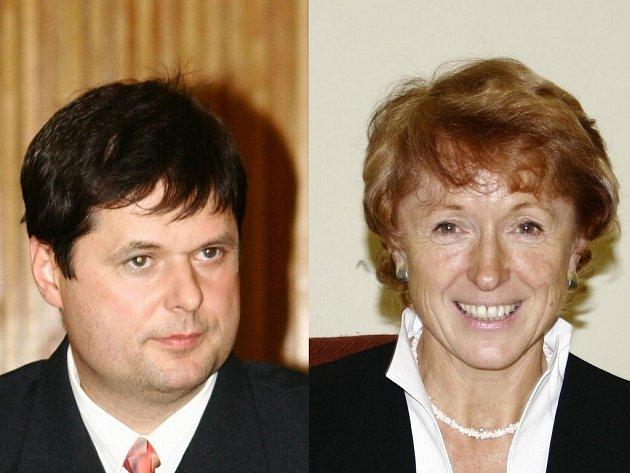 Radnice sport v Havlíčkově Brodě podporuje. Zástupci města starostka Jana Fischerová (vpravo) a místostarosta Libor Honzárek (vlevo) ochotně odpovídali na naše dotazy.