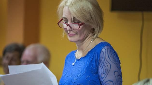 Veronika Žilková si do Chotěboře přivezla také ukázku rozepsané knihy.