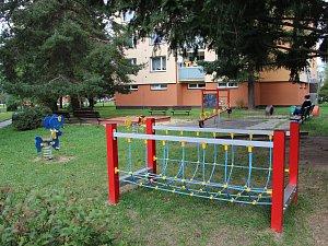 Dětské hřiště v Haškově ulici