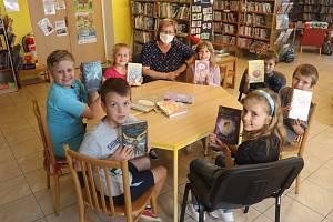 Čtenáři dětského oddělení chotěbořské knihovny