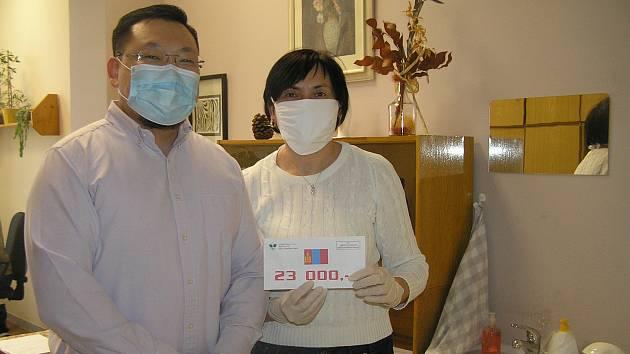 Mongolská komunita z Futaby uspořádala sbírku pro brodskou nemocnici.