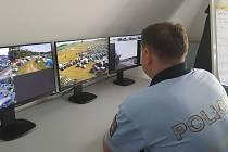 Policisté dohlížejí ve Světlé nad Sázavou na veřejný pořádek i dopravu.