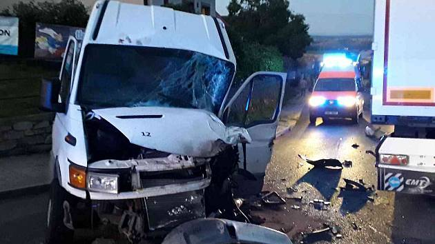 Nehoda ve Věži. Foto: archiv HZS Kraje Vysočina