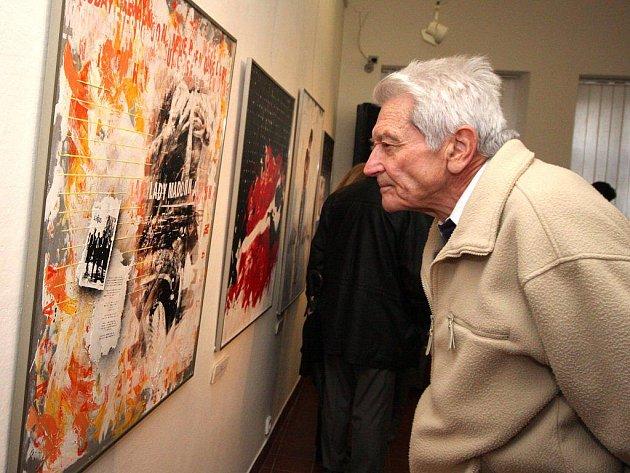 Umělecký sítotisk lze obdivovat na výstavě díla Jana Hanuše v Galerii výtvarného umění v Brodě.