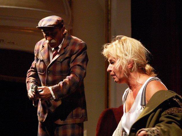 Diváci mohli Janu Paulovou vidět například v divadelní hře nazvané Záhadná Irma (na snímku). Po jejím boku stál v dané inscenaci Pavel Zedníček.
