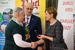 Slavnostní předávání ocenění dobrovolným dárcům krve v Havlíčkově Brodě.