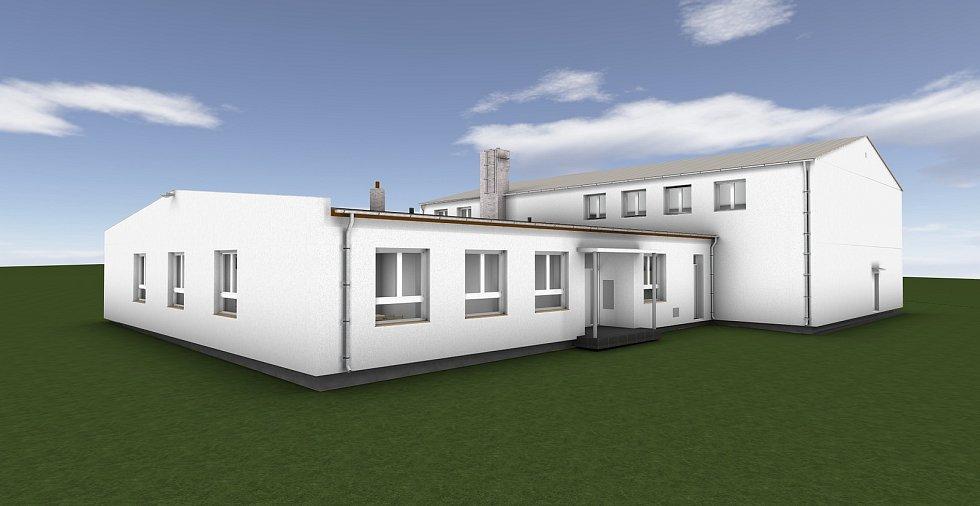 Vizualizace budoucí podoby sobíňovského kulturního domu.