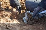 Archeologické práce na trase budoucího obchvatu kolem Havlíčkova Brodu.