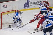 První semifinálové utkání mezi BK Havlíčkův Brod a HC Bobři Valašské Meziříčí.