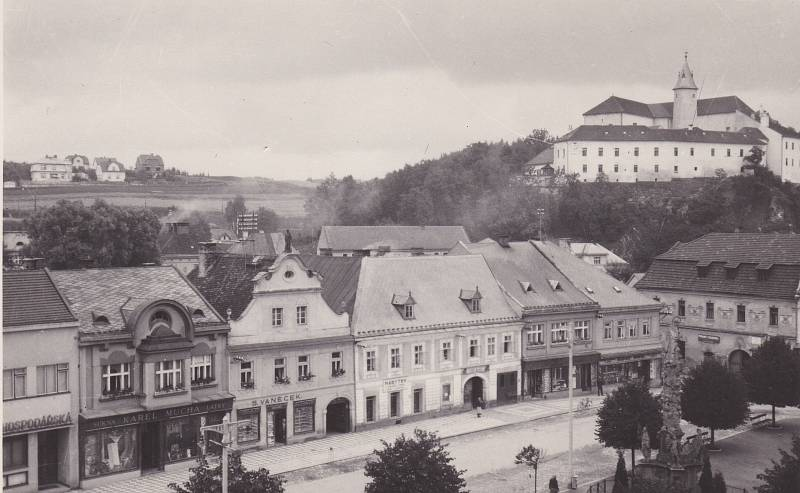 Pohled na tehdejší město Ledeč.