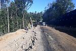 Úpravy silničního tělesa silnice I/19 u Simtan.