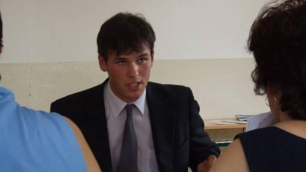 Před komisí. Jakub Sobotka si vytáhl otázku Doba pobělohorská a popral se s ní opravdu statečně.
