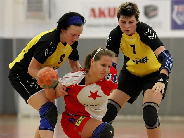 Prvoligové házenkářky Havlíčkova Brodu podlehly na domácí palubovce v dalším kole druhé nejvyšší soutěže juniorkám Slavie Praha 26:29.