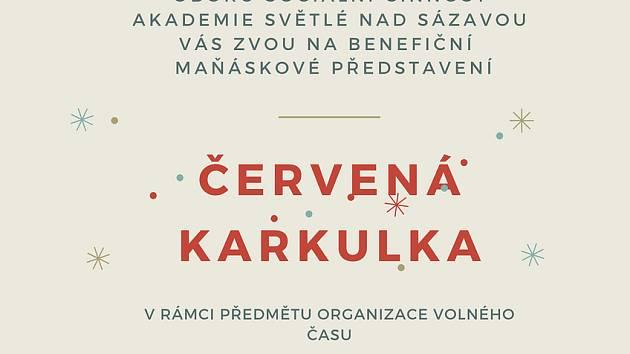 Benefiční představení Červená Karkulka.