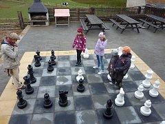 Program začíná v 15.30 hodin utkáním na velké zahradní šachovnici. Ilustrační foto.