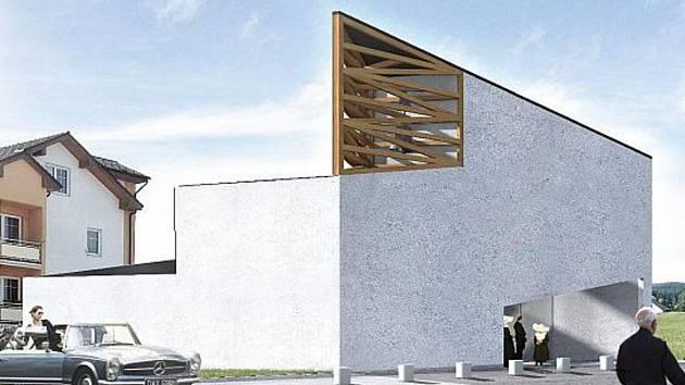 Autor návrhu Milan Stejskal pojal vzhled kostela skutečně moderně.