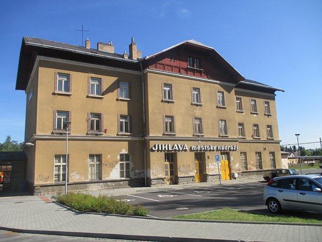 Městské vlakové nádraží vJihlavě.