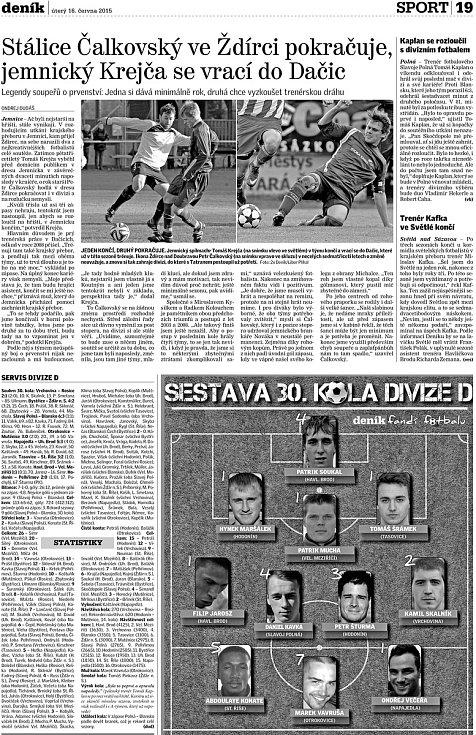 K postupu pomohla ikona klubu Petr Čalkovský.