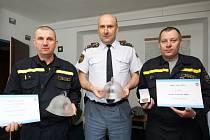 Ocenění převzali havlíčkobrodští profesionálové. Zleva Martin Sedláček, Luboš Vacek a František Smrž.