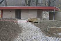 Kiosek v havlíčkobrodském parku Budoucnost.