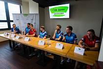 Předsezónní tisková konference týmu extraligy stolního tenisu HB Ostrov.
