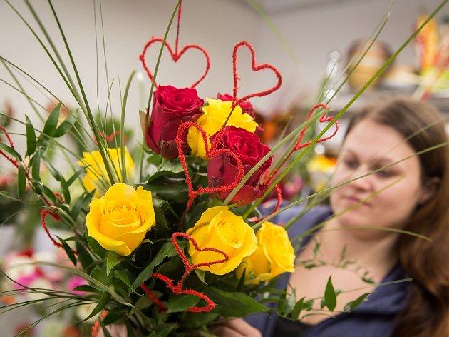 Napilno budou mít o valentýnu tradičně v květinářstvích
