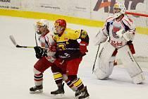 Havlíčkobrodským hokejistům zápas s jihlavskou Duklo herně vůbec nevyšel, soupeř jim nasázel šestku.