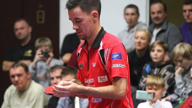 Ani set v zápasech s Havířovem a s Ostravou neztratil brodský stolní tenista Tomáš Tregler (na snímku).