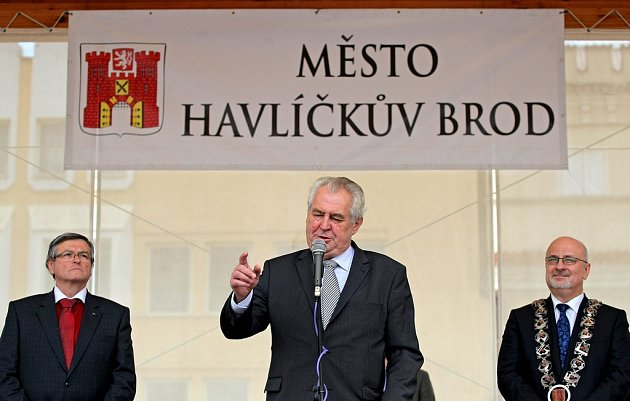 Momentky z návštěvy prezidenta republiky Miloše Zemana v Havlíčkově Brodě.
