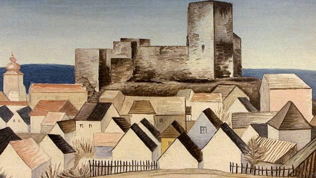 Zatímco Prahu Jan Zrzavý nemaloval, svůj rodný kraj ano. Známá jsou zpodobnění Krucemburku, Krásné Hory a Lipnice. Obraz hradu a podhradí je z roku 1940.