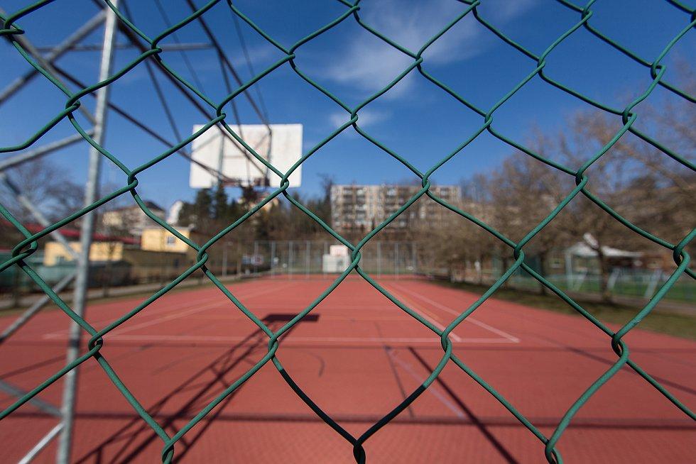 Uzavřený Sportovní areál Plovárenská v Havlíčkově Brodě.
