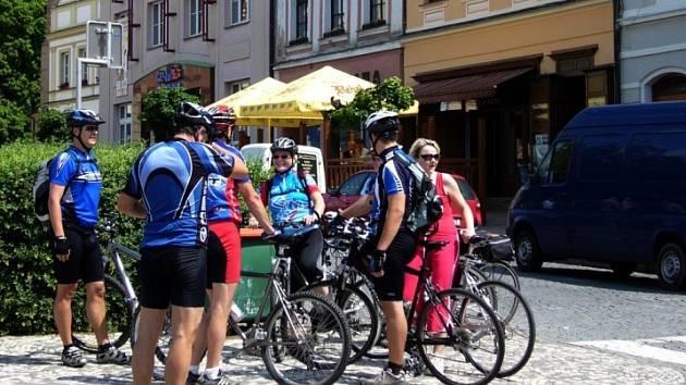 Cyklistická rodina si dala sraz tentokrát v Havlíčkově Brodě.