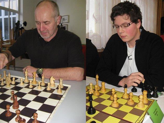 Hráči TJ Jiskra Havlíčkův Brod, Miroslav Holata (vlevo) a David Brož.