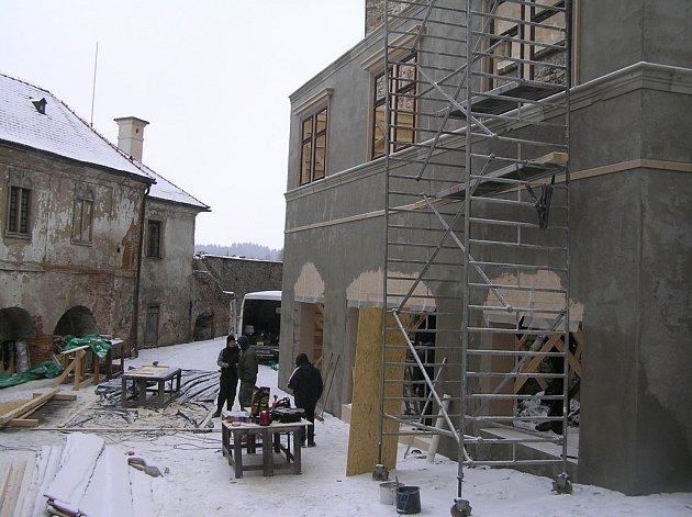 Štáb režiséra Jiřího Stracha hostil ledečský hrad v lednu 2016.