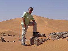 Na svůj facebookový profil si Pavel Hrůza dal i tuto fotografii z pouště.
