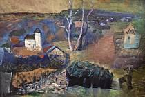 Jeden ze 180 obrazů Ivana Grubera, vystavených v Golčově Jeníkově. Repro.