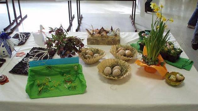 Velikonoční výstava základní školy v Chotěboři.