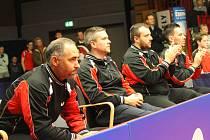 Nové role ve stolním tenise se zhostí brodský hráč Petr Korbel (vlevo), který se od listopadu stal předsedou Asociace profesionálních klubů. Ve funkci vystřídal Zbyňka Špačka, který odstoupil z pracovních důvodů.