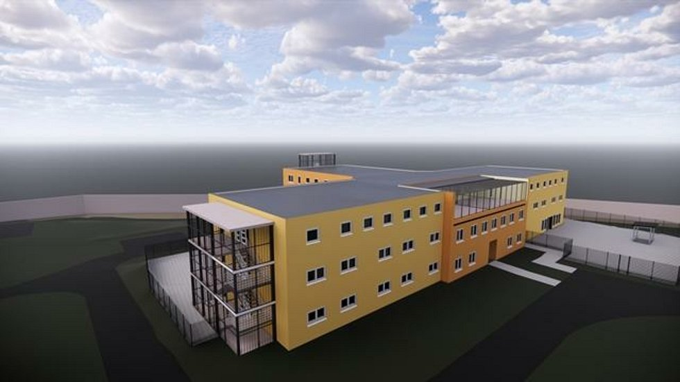 Vizualizace nového pavilonu věznice ve Světlé.